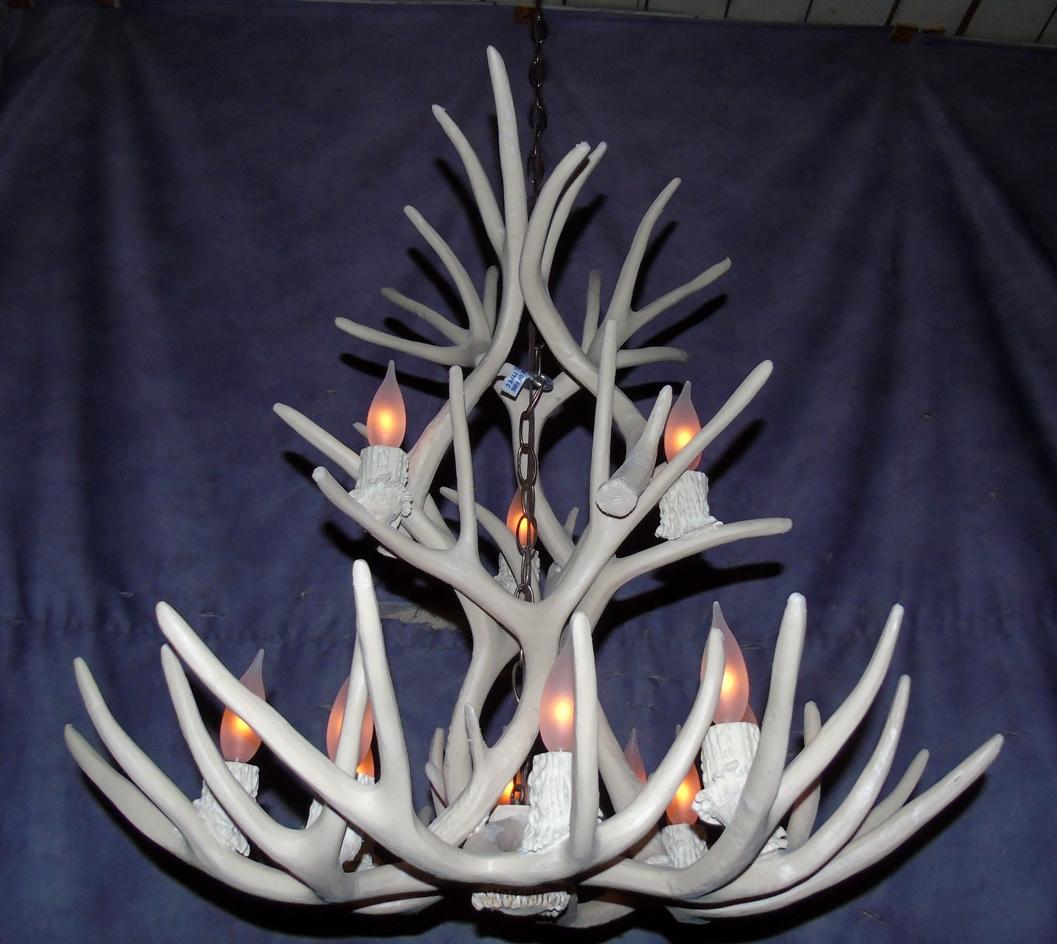 New White Antler Faux Deer Chandelier 12 Light Latest Design Lighting Ebay