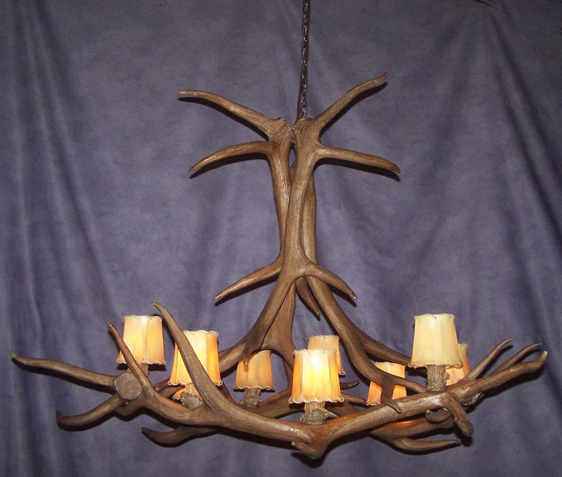 antler chandelier reproduction elk antler chandelier 9. Black Bedroom Furniture Sets. Home Design Ideas