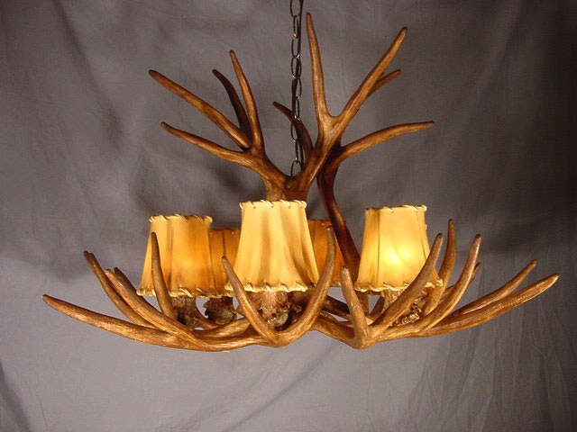 deer antler chandelier downlight rs5d lamps rustic lodge lighting