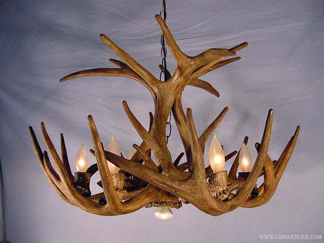 Faux whitetail deer antler chandelier one downlight rustic does not apply mozeypictures Gallery