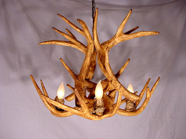 Faux antler whitetail chandelier 4 light sockets lamps cdn many reproduction chandelier sockets are covered with non matching plastic sleeve our cover is made from the state of an art material to resemble a real mozeypictures Image collections