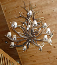 Elk Cascade Chandelier with Parchment Shades