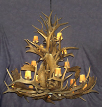 Extra Large Cascading Elk/Fallow Chandelier