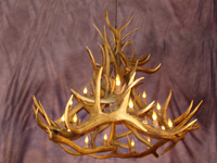 Real Antler Royal Crown Elk / Mule Deer Chandelier