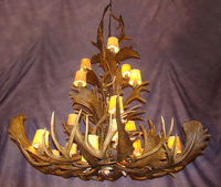 European Fallow / Mule Deer Combo Chandelier