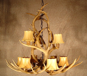 Yellowstone Mule Deer Real Antler Chandelier Special