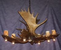 Moose Pool/Dining Table Chandelier.