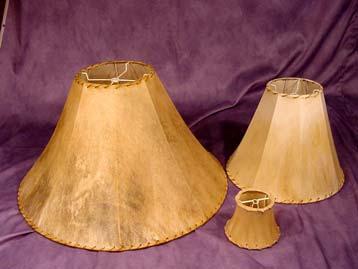 Rawhide Shades & Rawhide Lamp Shades :: CDN Antler :: Custom Antler Chandeliers