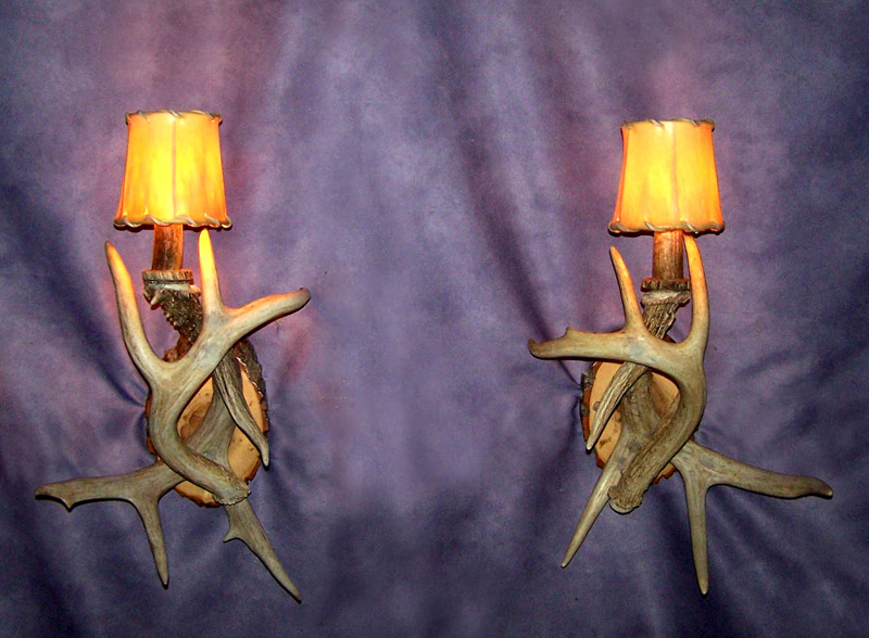 Real Antler 1 light White-tail Deer Sconce with optional shade & Antler Sconces and Lights :: CDN Antler :: Antler Lights Lamps ... azcodes.com