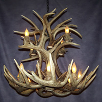 Double Tier White Tail Deer Antler Chandelier