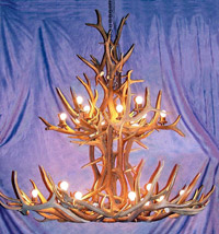 King Jewel Elk Chandelier