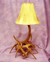 Reproduction 4 antler White Tail Table Lamp